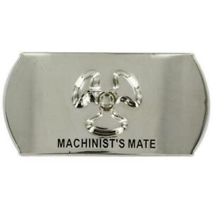 GENUINE-U-S-NAVY-ENLISTED-SPECIALTY-BELT-BUCKLE-MACHINIST-039-S-MATE-MM
