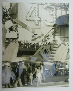 Flight-Deck-and-Island-Photograph-the-USS-Coral-Sea-Carrier-CVA-43-Visitor-Day