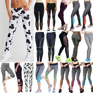 Mujer-Yoga-Fitness-Leggings-Atletismo-Deporte-Gimnasio-cintura-pantalones