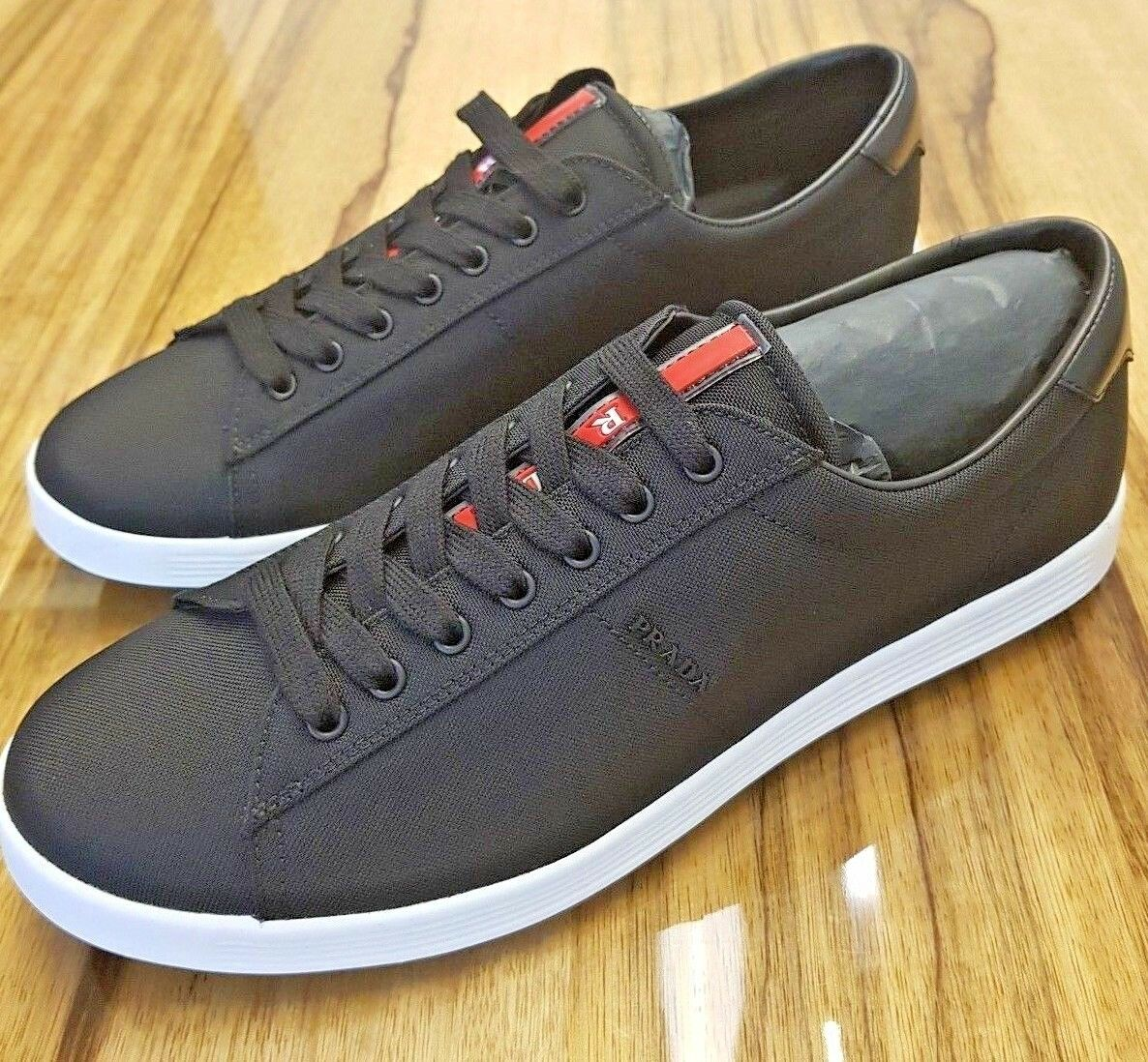 232c28d6ccbf Prada shoes shoes shoes men black and white fashion sneakers SIZES ...