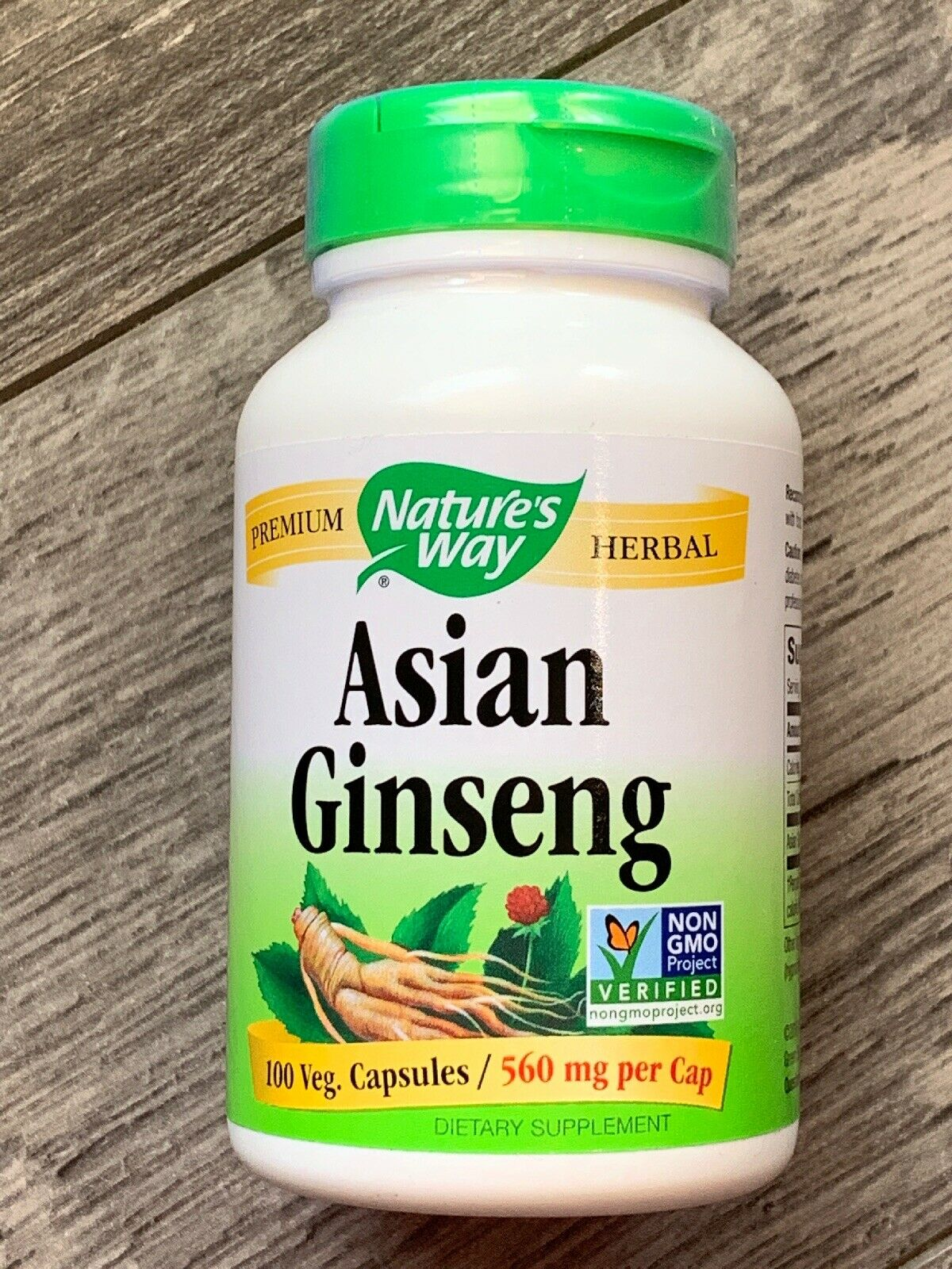 Nature's Way asian Korean Ginseng Root Chinese herb for vitality 100cap EXP:3/22 1