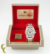Hamilton Men's Self-Winding Stainless Steel Watch w/ Original Box 827 17 Jewels