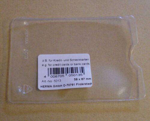 10 Ausweishüllen Ausweisse Hüllen zb Scheckkarten Visitenkarten 5,8 x 8,7 cm Neu