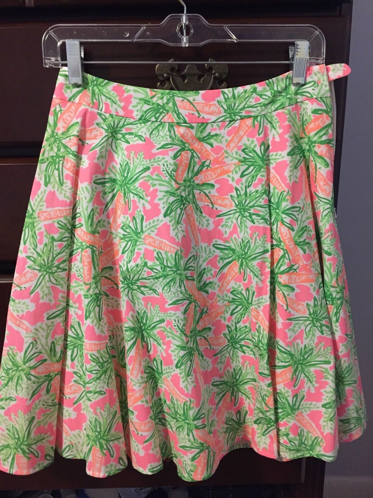 Lilly Pulitzer Skirt Size 6, pink, green, worn once, like new