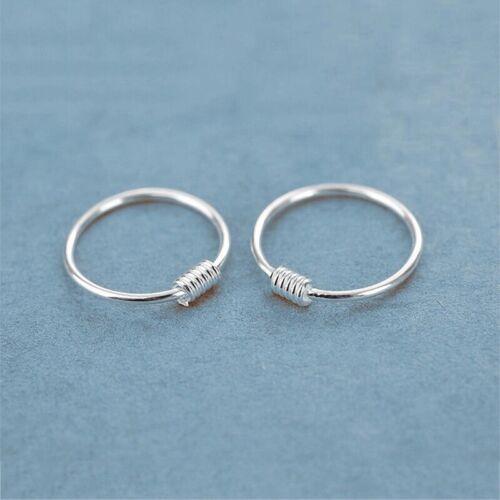 Plata esterlina X1 ✔ ✔ 6mm ✔ anillo de la nariz Bobina Cartílago Tragus Oreja Joyas