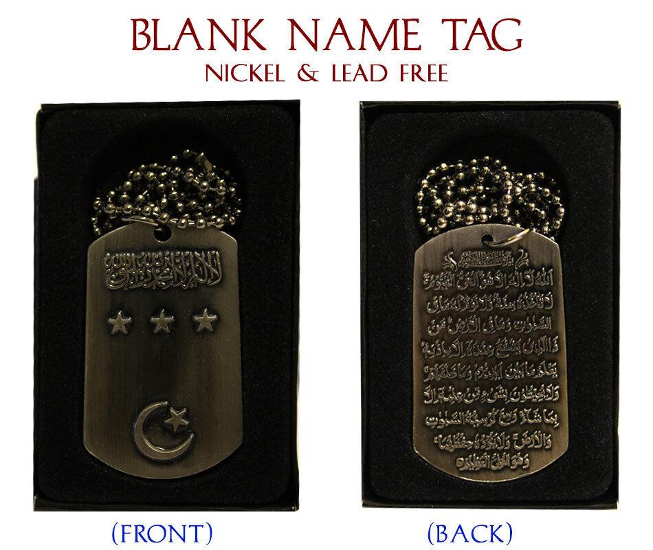 Adam Abu Bakr Abbas Adil Eid Abdullah Abid Name Necklace Tag Blank Abdul