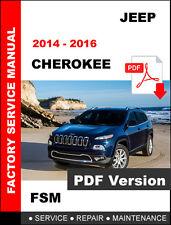 jeep cherokee kl latitude trailhawk 2014 2015 2016 factory service rh ebay com service manual jeep cherokee 2014 trailhawk service manual jeep grand cherokee wk