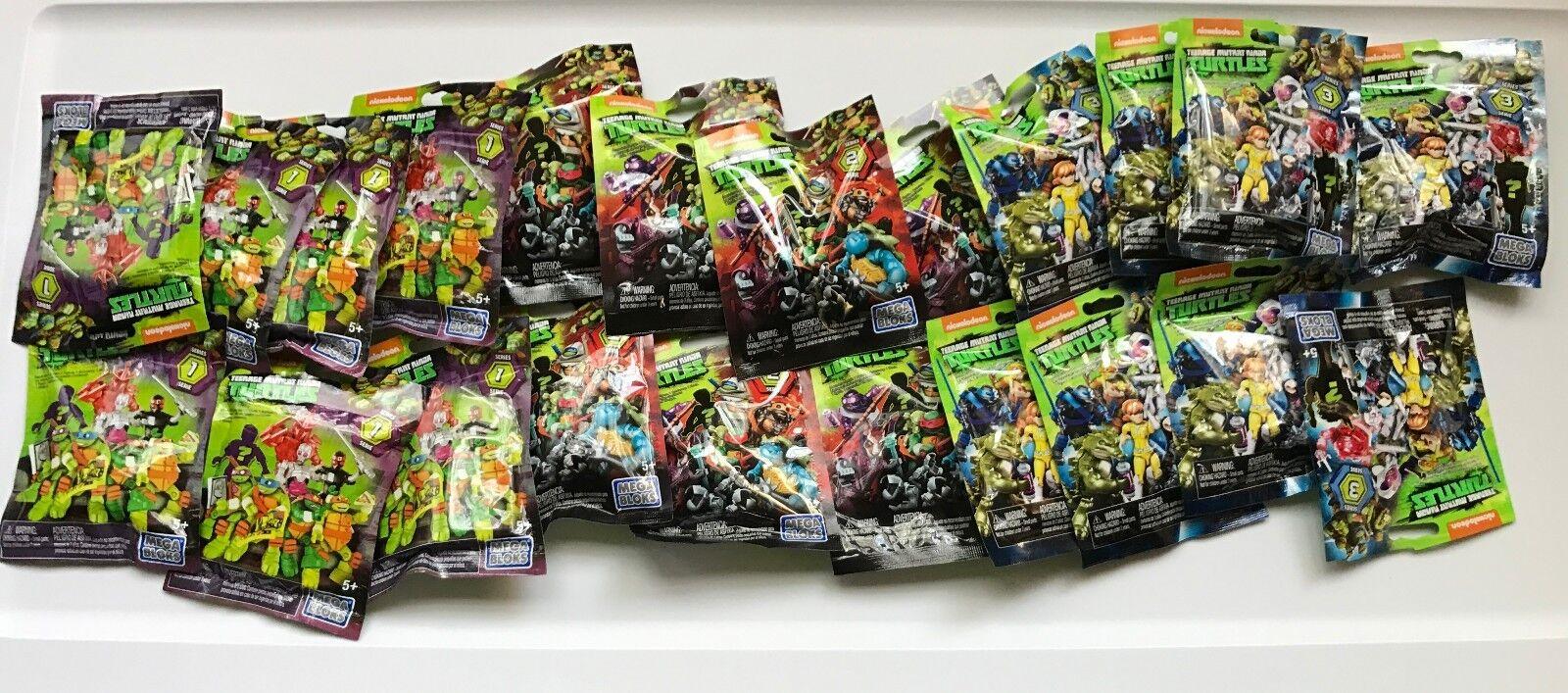 Numero Duplicati 18 Sigillato Megabloks Serie 1 2 & 3 Tnmt Mutante Ninja Turtles