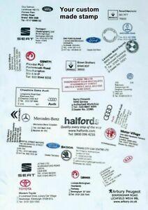 Garage Service Maintenance Stamp