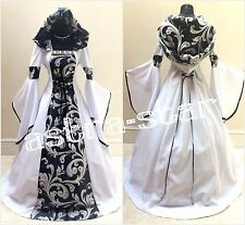 MEDIEVAL WEDDING DRESS 10-12-14 S-M GOTHIC WITCH COSTUME GAME OF THRONES VAMPIRE