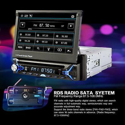 """7""""LCD HD Touchscreen Flip Out Car Stereo Radio Bluetooth DVD CD USB MP3 Player"""
