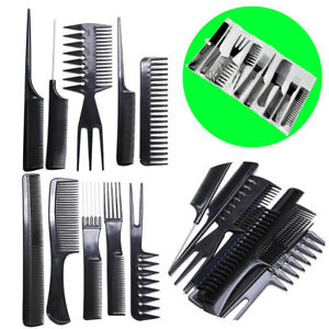 10-piece-Hair-Styling-Comb-Set-Professional-Black-Hairdressing-Brush-Barbers