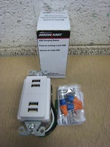 Surprising Cooper Wiring 7750 7750W Box 5A 5V 4 Port Usb Charging Station Outlet White Wiring Database Gramgelartorg