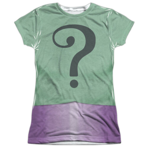 Batman Classic Live-Action TV Series Riddler Costume Junior Front Print T-Shirt