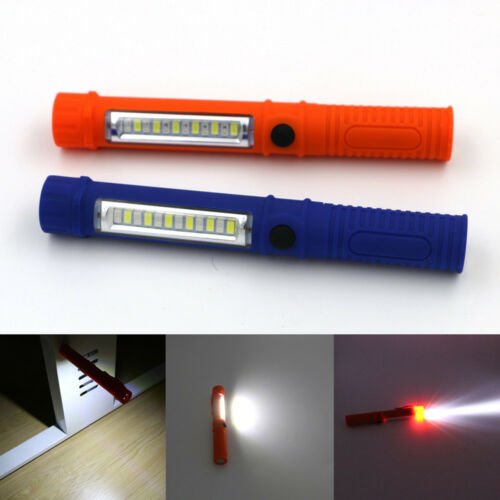 Portable Mini Pen Light Working Inspection Light COB LED Hand Torch With Clip