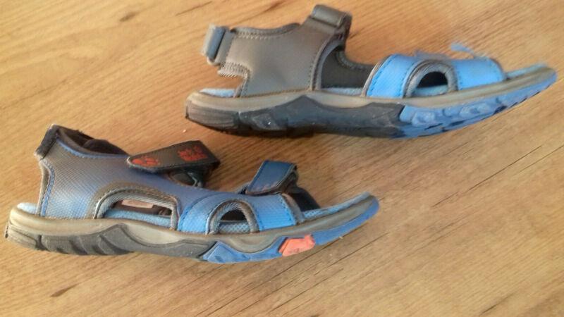 Schneidig Jack Wolfskin Sandalen Gr.33, Blau/ Grau, Klettverschluss