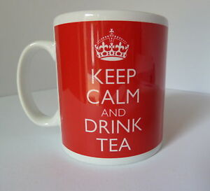 KEEP CALM /& DRINK TEA 11 OZ COFFEE MUG TEALOVER TEA CUP TEATIME BEVERAGE HEMP!!!