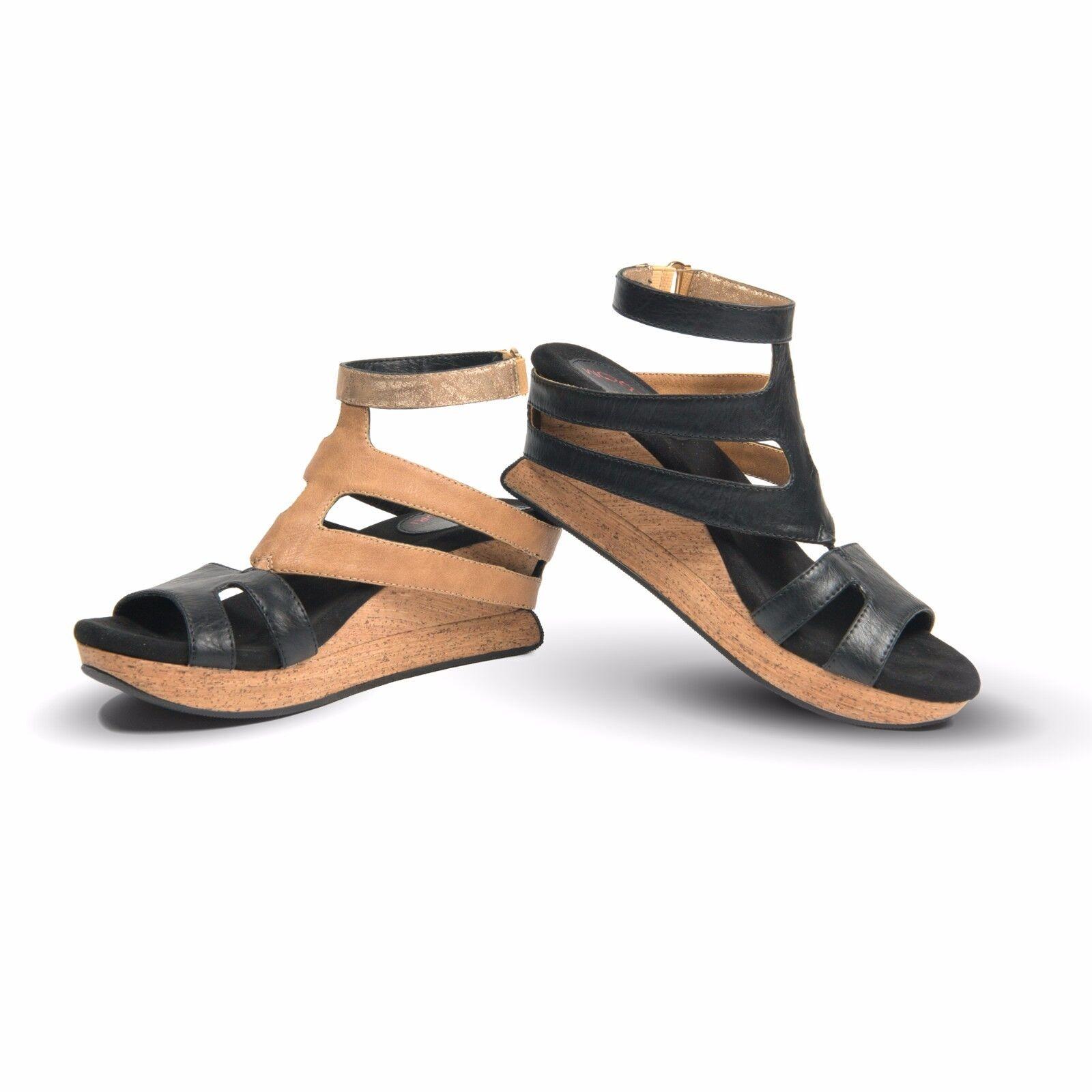 Modzori Modzori Modzori Fabia Women's Low Wedge Reversible Twister Sandal 5652f9