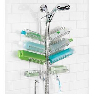Hanging Shower Caddy Bath Shelves Holder Shampoo Showerhead Organizer Bathroom Ebay