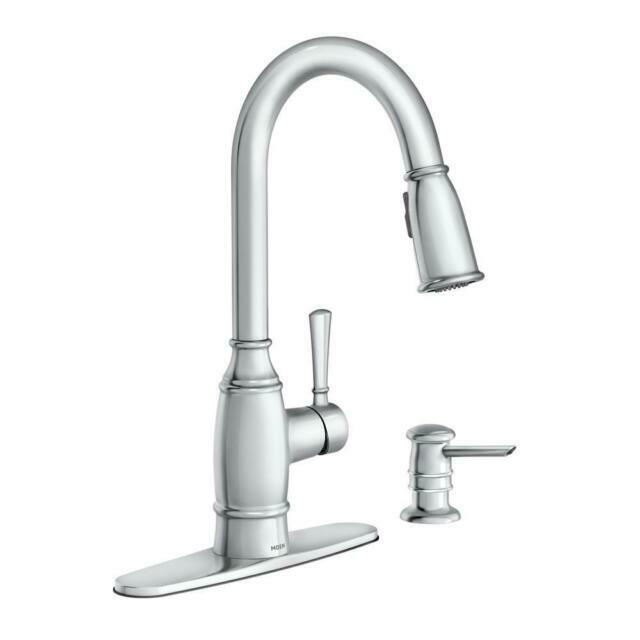 Moen Noell Pull Down Sprayer Kitchen Faucet Reflex Soap Dispenser Chrome 87791 For Sale Online Ebay