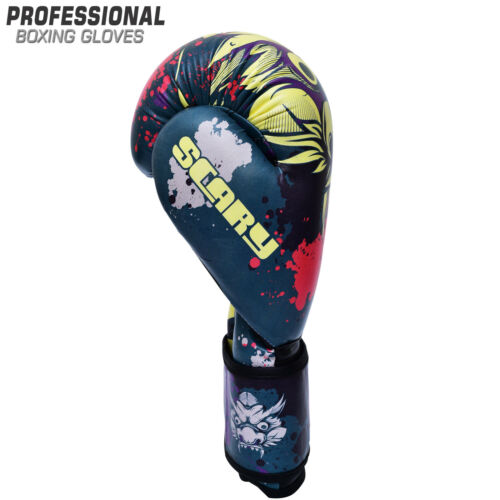 Boxing Gloves Scary Muay Thai Training Punching Bag Sparring MMA kickboxing
