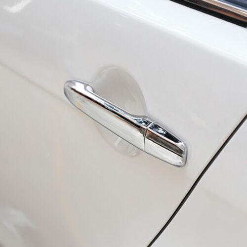 Chrome Door Handle Cover Trim Car Cap For Mitsubishi Lancer Evolution 2008-2017