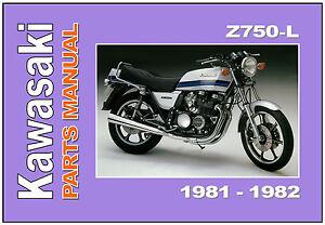 image is loading kawasaki-parts-manual-z750-z750l-kz750-1981-1982-