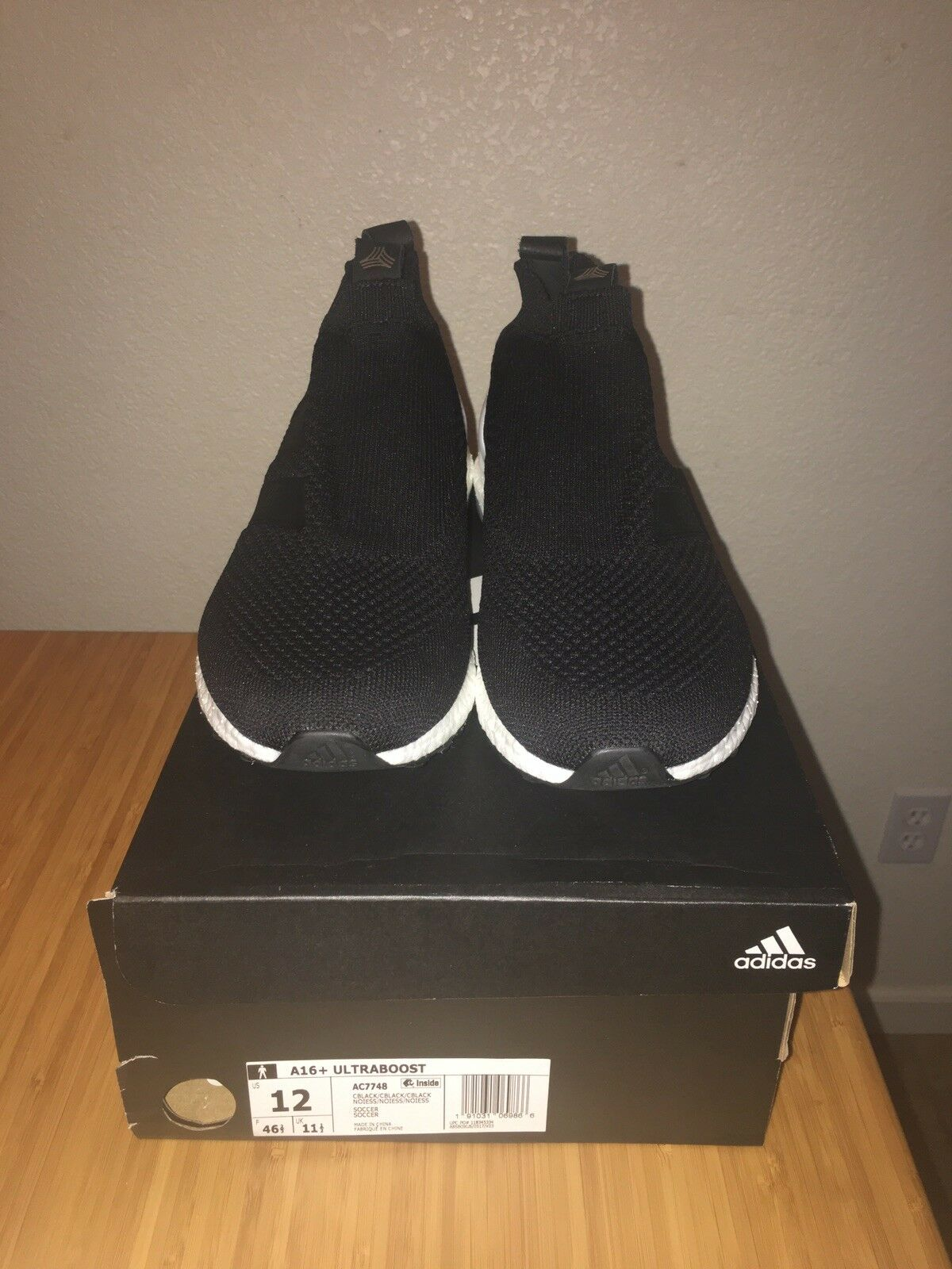 Adidas ace 16 purecontrol ultra boost, Black, White, White, White, Size 12 DS 06674d