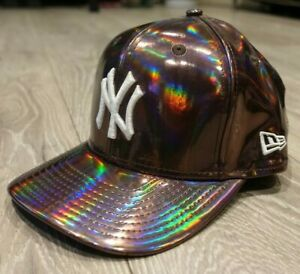 New Era Gorra De Béisbol New York Yankees Ny Bronce Holográfico Iridiscente Ebay
