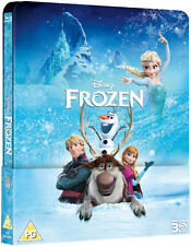 Frozen 3D and 2D Exclusive Lenticular Edition Blu-ray Steelbook NEW Bluray