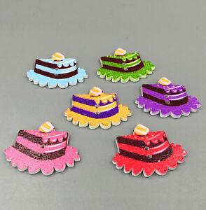 Holz Knopf Knopfe Mischfarbe Dessert Kuchen Form Scrapbooking Nahen