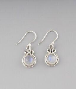 Rainbow-Moonstone-Drop-Earrings-Graduation-Gift-925-Sterling-Silver-Jewelry