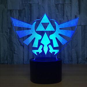 Image Is Loading 3D Legend Of Zelda Triforce Night Light LED