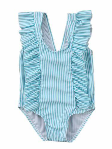 Bilo store Baby Girl Ruffle Striped Swimsuit One-Piece