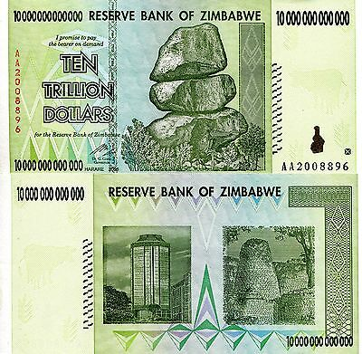 ZIMBABWE 10 Dollars Banknote World Paper Money UNC Currency PICK p67 2007 Harare