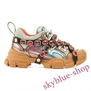 womens platform high top casual hidden heel Vogue lace up sport Board shoes