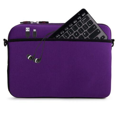 Neopene Removable Shoulder Strap Notebook Laptop Tablet Sleeve Messenger Bag