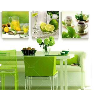 Home Decor Fruits Lemon Kitchen Jar Oil Painting Art Wall