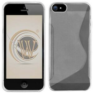 SEE-THRU-CLEAR-FROST-TPU-CANDY-SKIN-CASE-SOFT-GRIP-FOR-iPHONE-5-5s-SE-2016