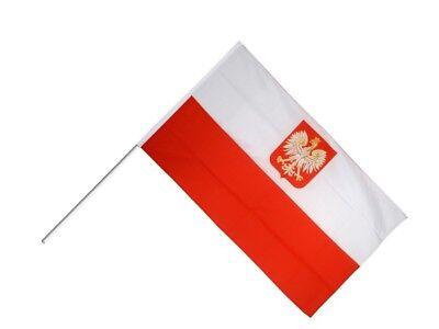 Stockflagge Stockfahne Österreich mit Adler 60x90cm Fahne Flagge mit Stock