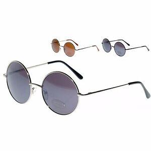 Cadre argenté avec lentilles vertes Unisexe haute qualité type de John Lennon rond Lunettes de soleil NEUF EOaNWkp