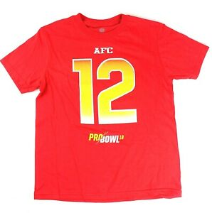 sports shoes d7ed3 8d92e Details about Tom Brady New England Patriots #12 Youth Pro Bowl 2018 Player  T-shirt Red
