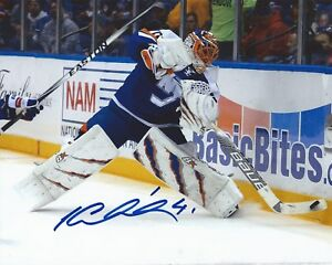 best sneakers 43cb8 93770 Details about Jaroslav Halak Signed 8x10 Photo New York Islanders  Autographed COA E