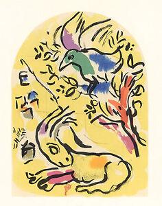 CHAGALL-Jerusalem-Windows-lithograph-034-Naphtali-034-1962
