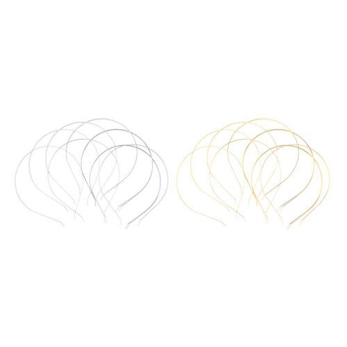 20x gewöhnliches Metall Stirnband Haarband Rahmen Reifen Zubehör