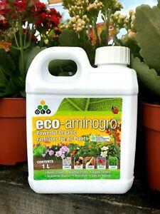 Details about Eco Aminogro Registered Liquid ORGANIC FERTILIZER For All  Plants 1 Litre