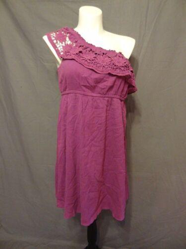 Lane Bryant crochet purple one shoulder dress size 18//20 cotton