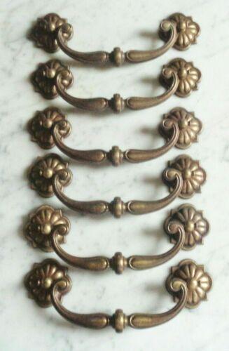 set of 6 Keeler Brass Knocker Bail Post Mount /& Bar Cabinet Drawer Pull Handles