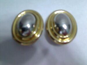 Image Is Loading Vintage Lci Liz Claiborne Dual Silvertone Goldtone Dome