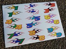 RC FLAMING Course NUMÉRO Stickers Mardave Mini Losi Tamiya Kyosho Banger course
